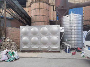 昆明鋼鐵控股有限公司  40T矩形不銹鋼保溫水箱